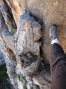 Rock Climbing Photo: Loose limestone block