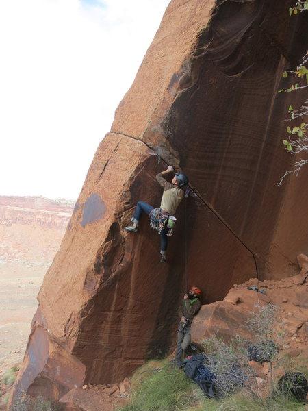 Rock Climbing Photo: Luke Lydiard on Inigo Montoya. Photo by McKenzie L...