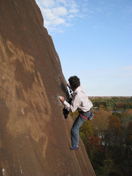 Rock Climbing Photo: CB working the crux
