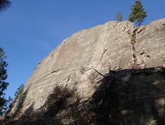 Rock Climbing Photo: Main wall of Turtle Island's south face