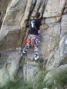 Rock Climbing Photo: Alex practicing