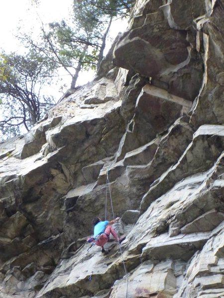 Rock Climbing Photo: Onsight attempt.