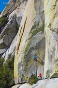 Rock Climbing Photo: Aaron Cassebeer climbing The Emperor (Photo: Paisl...
