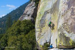 Rock Climbing Photo: Jeff Gicklhorn climbing The Emperor, The Needles (...