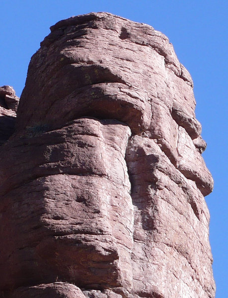 Rock Climbing Photo: The Face of God in profile. Draw in the beard and ...