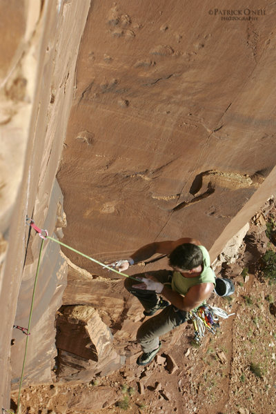 "Rock Climbing Photo: ""I'm off!"" Getting spit out of the tight..."