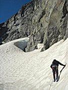 Rock Climbing Photo: Chris Martin making his way to the Pillar, which c...