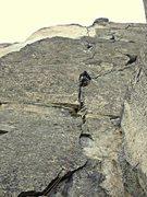 Rock Climbing Photo: Chris Martin firing the first pitch of the Girth P...