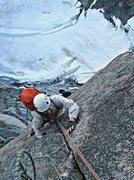 Rock Climbing Photo: Kyle Flick following pitch 2, Girth Pillar.