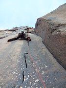 Rock Climbing Photo: Josh on Tip of The Toe. November 2012.
