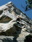 Rock Climbing Photo: Climber on Anchors Away