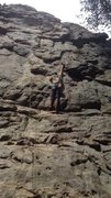 Rock Climbing Photo: My first lead at Sandrock
