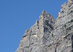 Rock Climbing Photo: Photo shows upper pitch details, which are on the ...
