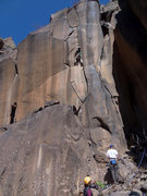 Rock Climbing Photo: George heads up to the fork in the road. April 201...