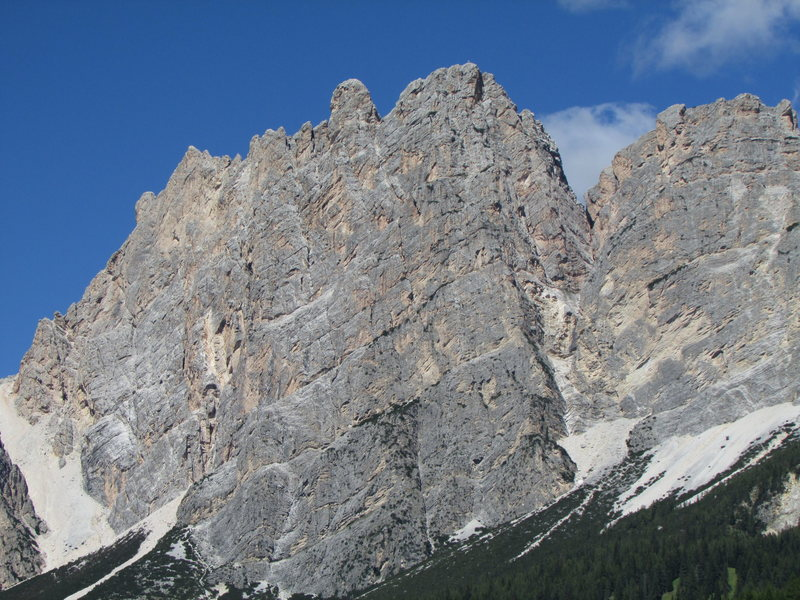 Central Pomagagnon Massif; Testa del Bartoldo is just left from center.