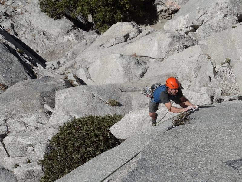 Rock Climbing Photo: Following the crux pitch on the first continuous a...