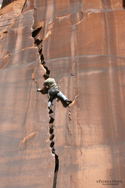 Rock Climbing Photo: Ryan climbing without a valley giant.