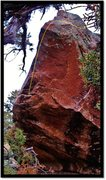 Rock Climbing Photo: Huck Hallow problem beta.  Doesn't really show the...
