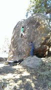 Rock Climbing Photo: Sean Crozier getting to the jug. It's bigger than ...