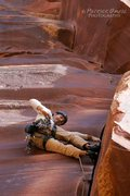 Rock Climbing Photo: Jon leading The Wave.