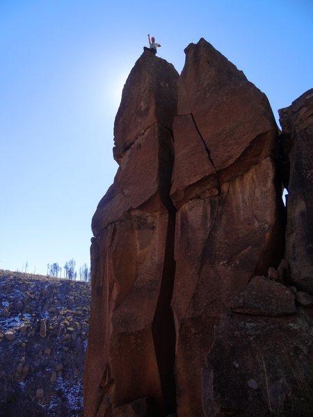 Rock Climbing Photo: Blast off!