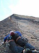 Rock Climbing Photo: Tom Michael starting ROTC.