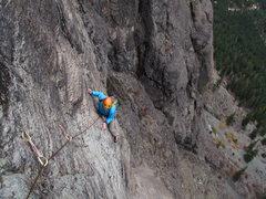 Rock Climbing Photo: Goran, seconding the crux