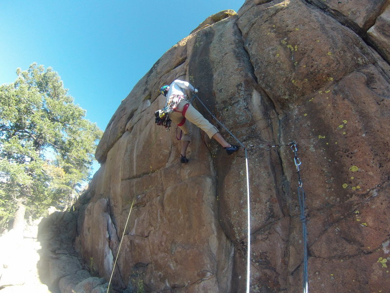 Rock Climbing Photo: mystery sport/trad route