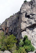 Rock Climbing Photo: Adagio covers this area going through the path of ...