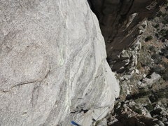 Rock Climbing Photo: Looking down at the superb rock quality of the low...