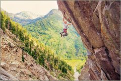 Rock Climbing Photo: Sticking the dyno, photo by caseyhyer.com