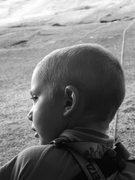 Rock Climbing Photo: My son