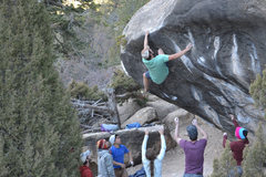 Rock Climbing Photo: Will at the lip during his impressive flash of Fro...