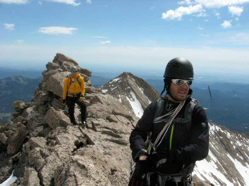 Rock Climbing Photo: Mt. Meeker summit ridge after climbing Dreamweaver