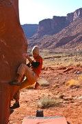 Rock Climbing Photo: Rambo slappin the block
