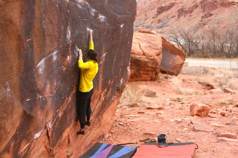 Rock Climbing Photo: Hannah on Center Start