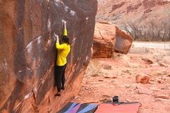 Rock Climbing Photo: Hannah on Center Start