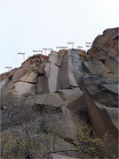 Rock Climbing Photo: Overview of the routes in the Capulin Classic area...