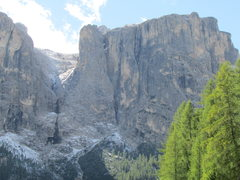 Rock Climbing Photo: Northern ramparts of the Sella Group, with the pro...