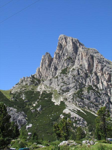 Sass si Stria, or Hexenstein near Falzarego pass.