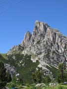 Rock Climbing Photo: Sass si Stria, or Hexenstein near Falzarego pass.