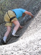 Rock Climbing Photo: Starting the beautiful hand crack portion of climb...