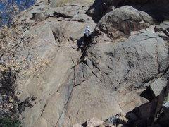 Rock Climbing Photo: Hugo on pitch 1
