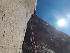 Rock Climbing Photo: Just through the stemming corner and onto the thug...