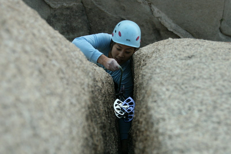 Rock Climbing Photo: It's wide at the top!