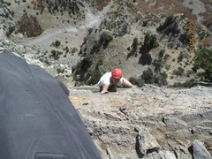 Rock Climbing Photo: Leading the 8th pitch of squawstruck