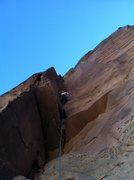Rock Climbing Photo: Leading P4 of Triassic Sands