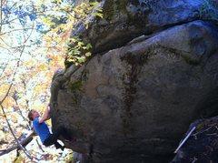 Rock Climbing Photo: Pat Hennesy flashing The Maudra