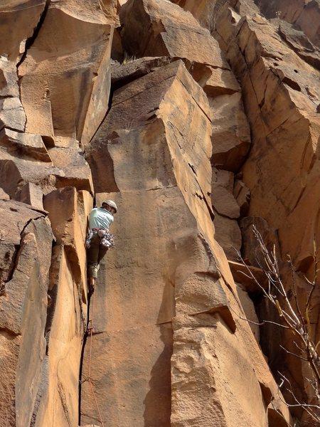 Sarah mid-route. April 2013.