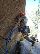 Rock Climbing Photo: Aiding. Photo by Locker.